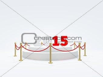 2015 New Year symbol on podium