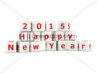 2015 Happy New Year sign on bricks