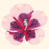 Halftone hibiscus