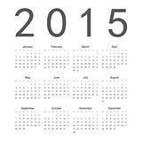Simple european 2015 year vector calendar
