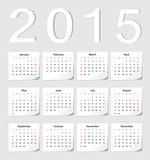 European 2015 calendar