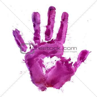 Paint print of human hand