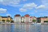 Beautiful quay in Stockholm