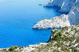 Summer coastline landscape (Zakynthos, Greece)