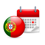 Icon of National Day in Portugal