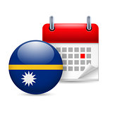 Icon of National Day in Nauru