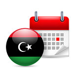 Icon of National Day in Libya