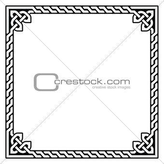 Celtic frame, border pattern - vector