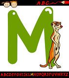 letter m for meerkat cartoon illustration