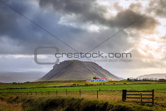 Storm over farm