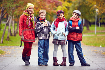 Group of schoolkids