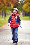Cute schoolchild