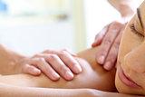 Having massage