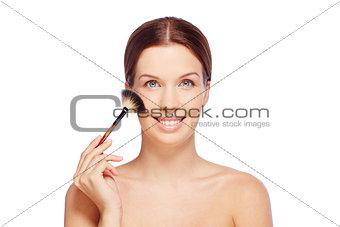 Powdering face