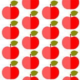 Cute apples seamless pattern