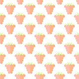 Flat raspberry cute seamless pattern