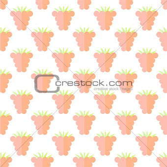 Flat raspberry cute seamless pattern