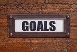 goals - file cabinet label