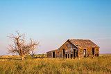 old homestead on prairie