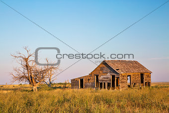 old homestead on prairie