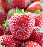 Close up of Fresh Sweet Strawberries
