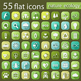 Set of ecology nature flat icons