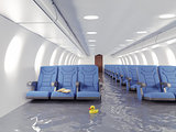 flooding airplane interior