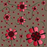 Amazing flower seamless texture
