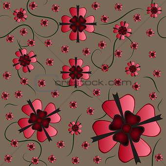 Amazing flower seamless texture