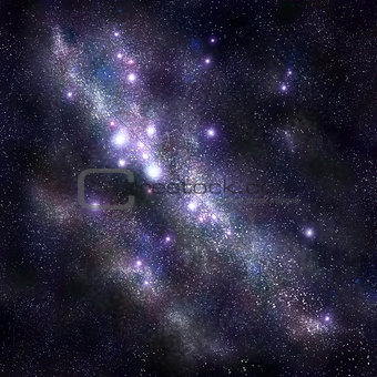Abstract space background with stars and starfield, nebula