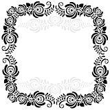 black and white vintage frame