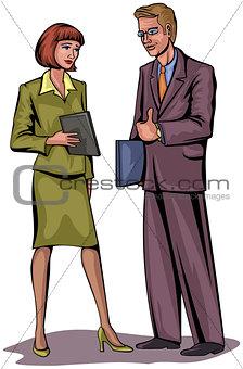 Couple businessmen