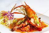 grilled jumbo fresh water shrimp