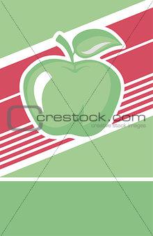 Green apple label