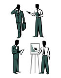 Four business in vector