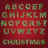 christmas abstract alphabet