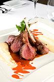 Delicious lamb ribs.