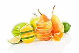 Delicious fresh fruit background.