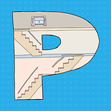 Letter P House