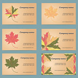 Maple leaf business card set