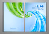 Blue Green Business Front and Back Flyer Template