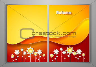 Autumn Yellow Business Front and Back Flyer Template