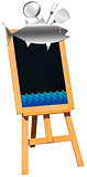 Seafood - Blackboard on Easel