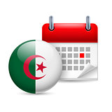 Icon of National Day in Algeria