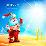 Santa Claus in the summer