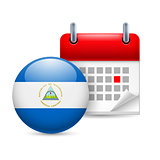Icon of National Day in Nicaragua
