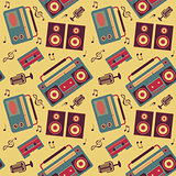 retro music pattern