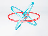 molecule, atom on white background