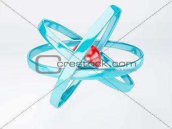 molecule, atom on white background