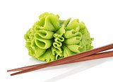 Wasabi with chopsticks